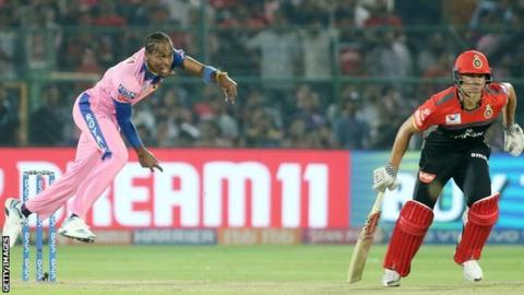 Jofra Archer in action in the IPL