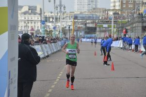 Brighton Marathon. Photo by Jon Rigby. SUS-190414-144001001