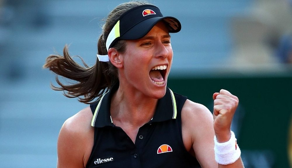 johanna konta reaches french open fourth round for first