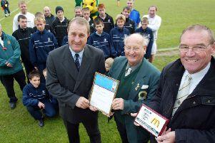A proud moment - Horsham football club receives FA Charter Standard in 2006 MAYOAK0003367326