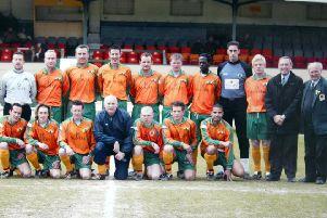 Frank King in 2007 with his beloved Horsham Football Club MAYOAK0003434158
