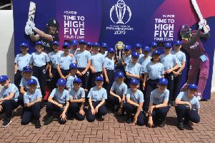 St. Peter�s CofE Primary School with the ICC World Cup
