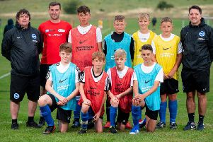 Young footballers from Rye