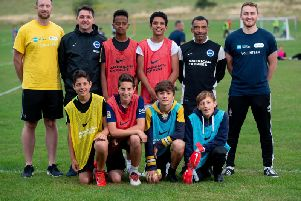 Young footballers from Brighton