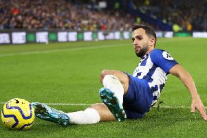 Martin Montoya has been the regular right back for Albion this season