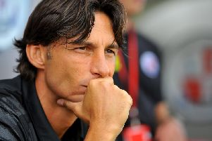 Gabriele Cioffi's first game in charge was against Morecambe at home