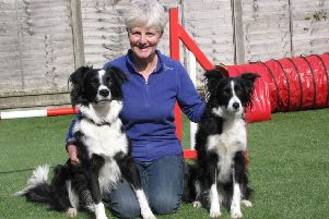 Jenny Hastie with Nessa, left, and one of her other dogs
