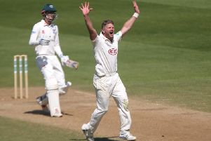 ... and in county championship action for his old county / Picture: Getty