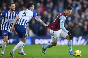 Brighton and Hove Albion let slip a lead against relegation rivals Aston Villa