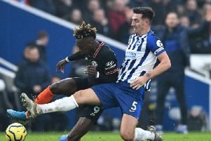 Albion skipper Lewis Dunk continues to be linked with a 50m move to Everton